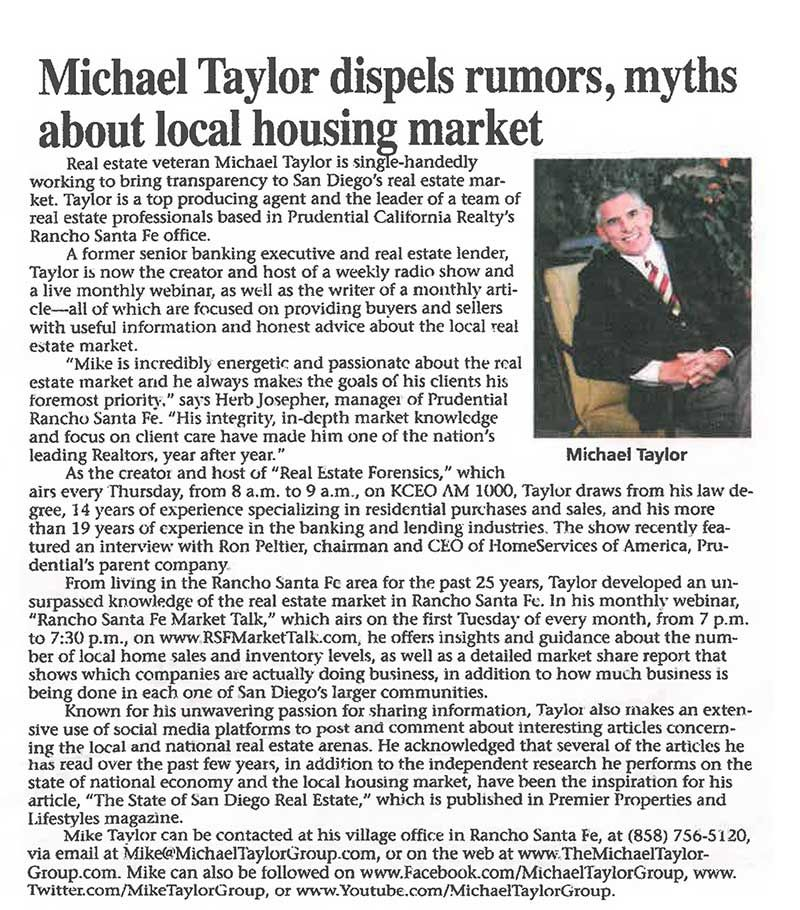 The Michael Taylor Group - Press Release