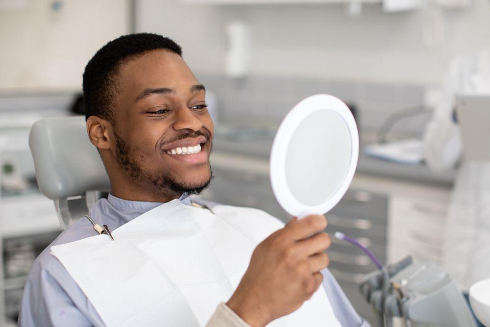 Patient Looking At Mirror