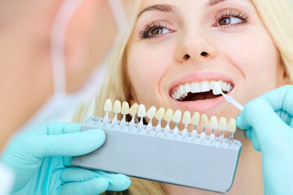 smiling patient at a dental clinic