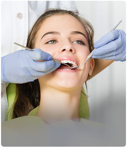 happy patient in a dental clinic