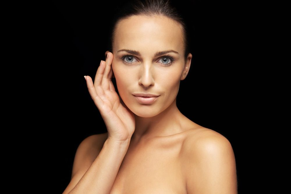 woman with flawless facial skin