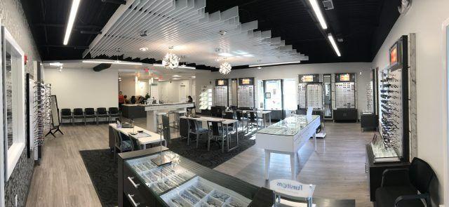 inside our eye care center