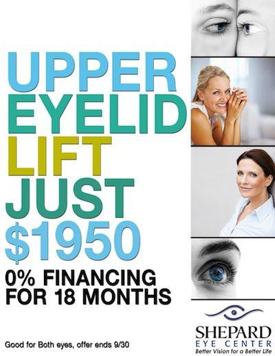 Upper eyelid lift