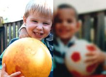 blurry image of children