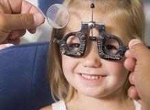 child getting eye tests
