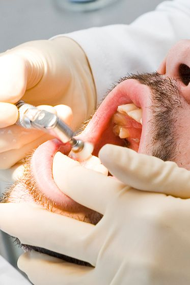 man having Oral Surgery