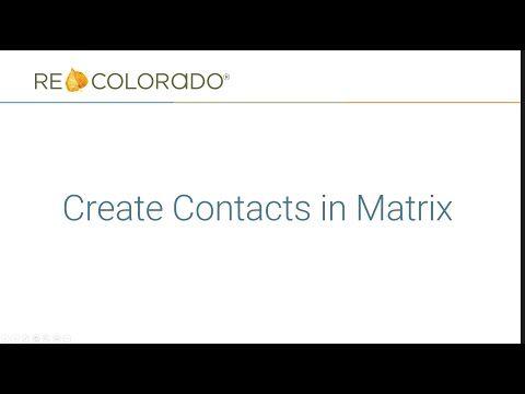 Matrix: Create Contacts