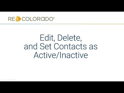 Matrix: Edit, Delete, and Set Contacts as Active/Inactive