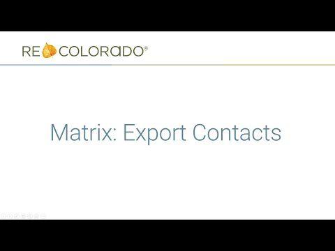 Matrix: Export Contacts