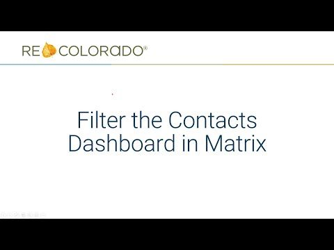 Matrix: Filter the Contacts Dashboard