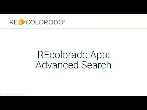 REcolorado App: Advanced Search