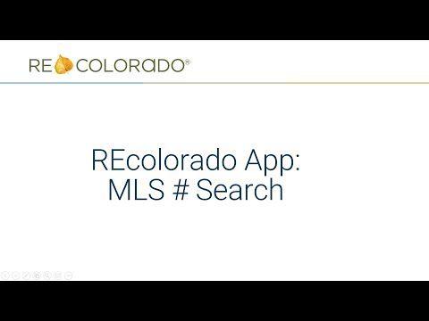 REcolorado App: MLS Number Search