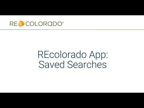 REcolorado App: Saved Searches