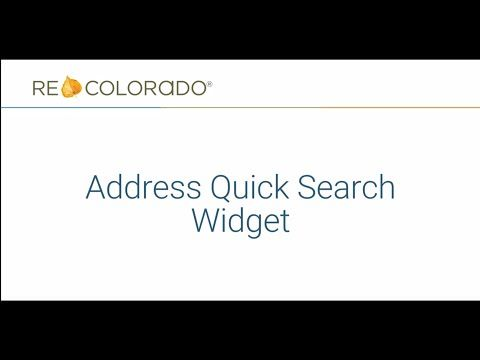 REcolorado Matrix: Address Quick Search