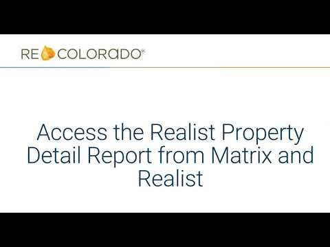 Realist: Access The Property Detail Report