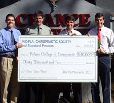 Scholarships for local and UF students attending Palmer Chiropractic College