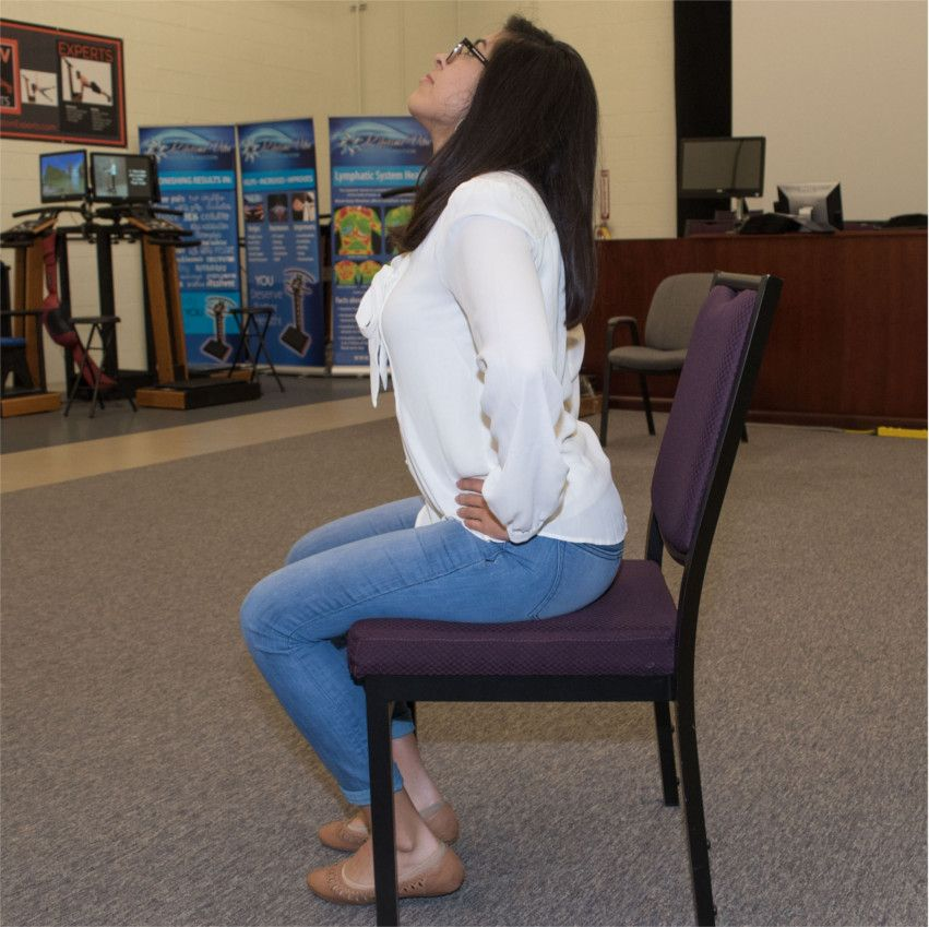 Woman doing back extension exercises 2