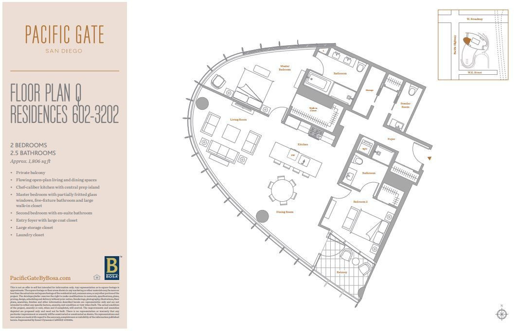 Pacific Gate Floor Plans