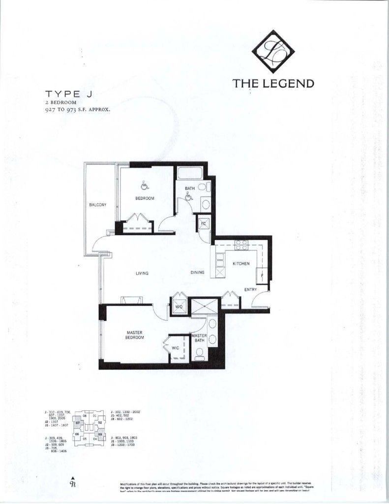 The Legend Floor Plans