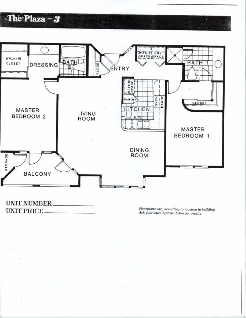 Columbia Place San Diego Floor Plans