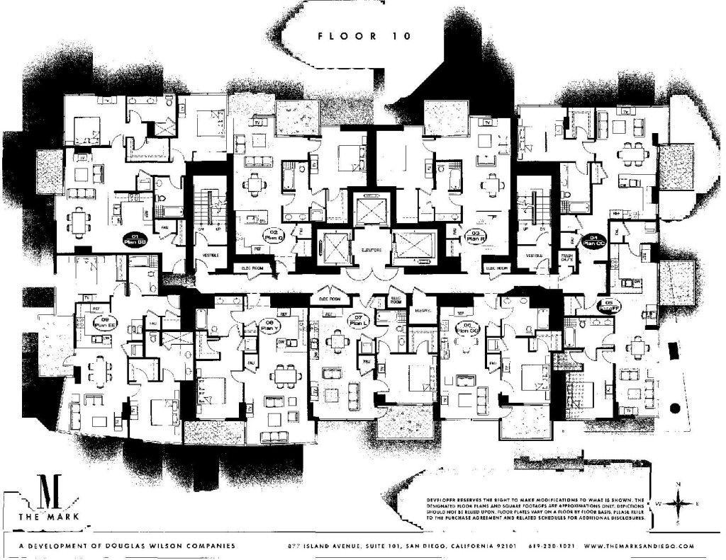 The Mark Floor Plans San Diego