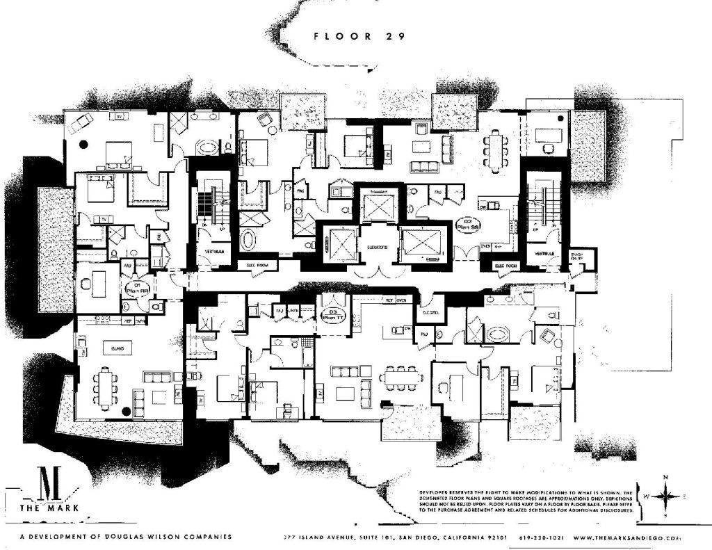 The Mark Floor Plans San Diego