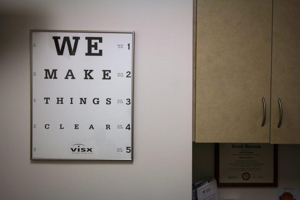 eye test board