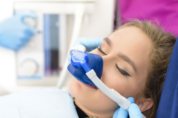sleeping dental patient