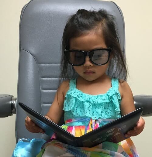 baby in an eye exam