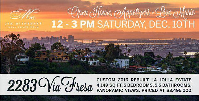 OPEN HOUSE: NEWLY FINISHED 2283 VIA FRESA, LA JOLLA
