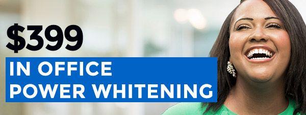 399 in office teeth whitening