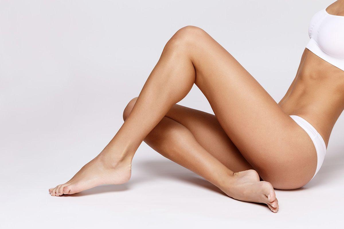lady with fair legs