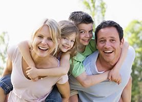 family with cosmetic dentistry