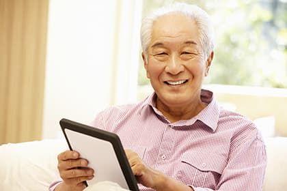 Older Asian Man
