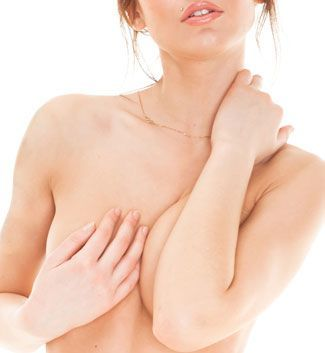 woman with reconstructed breast