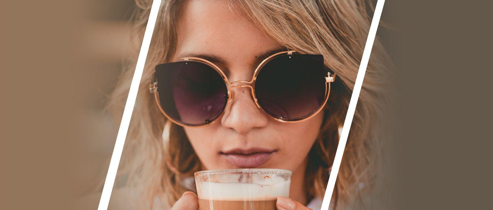 lady in designer sunglasses