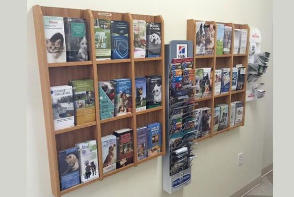 Info Wall - Our goal is to educate clients on giving their pets the best quality of life.