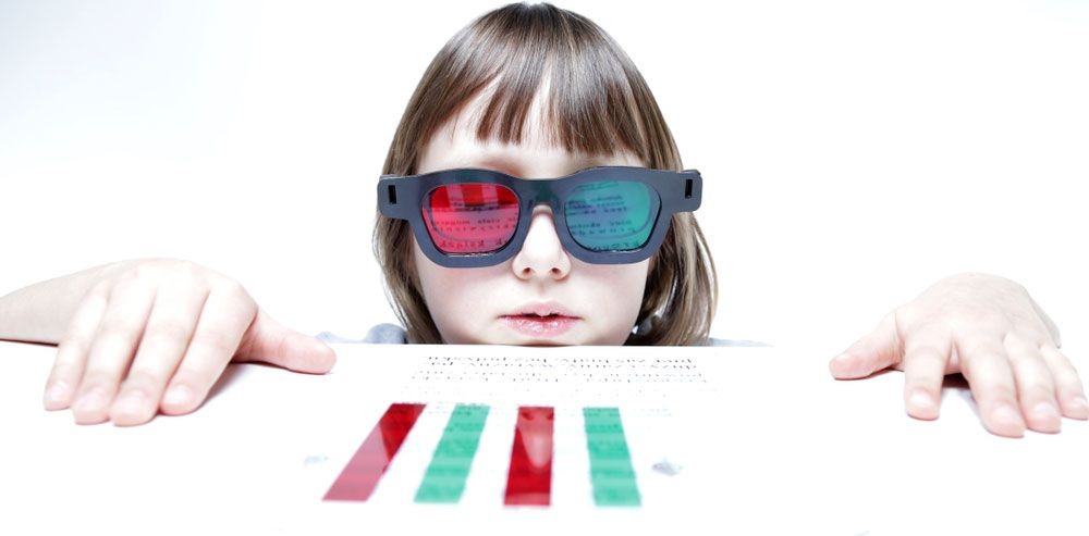 child in vision therapy