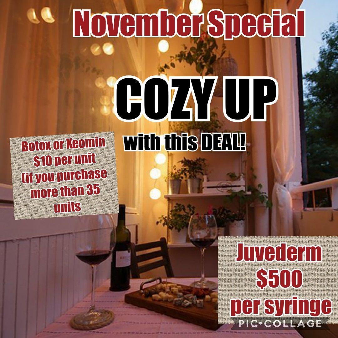 November Monthly Specials