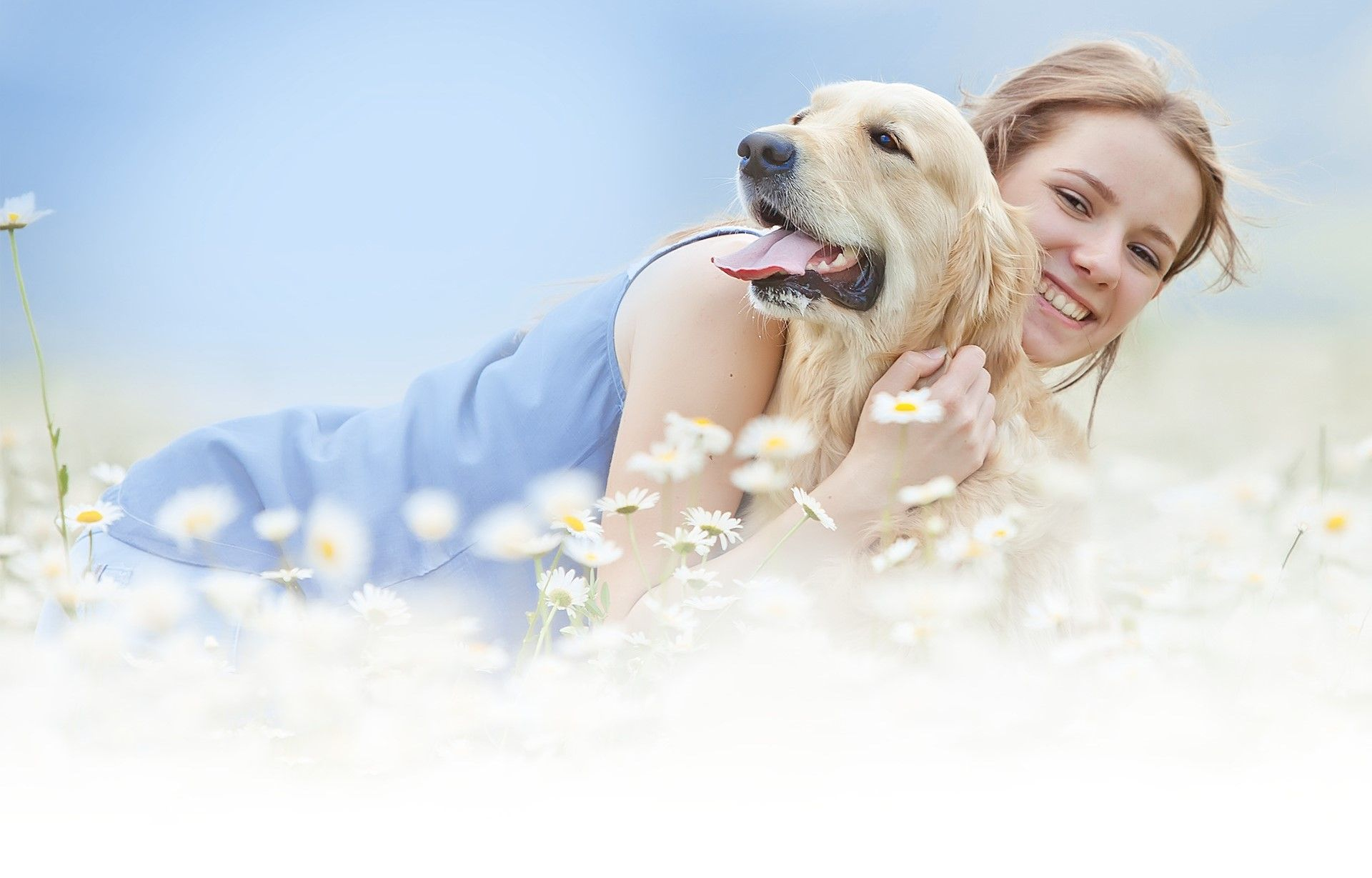 happy pet with its owner