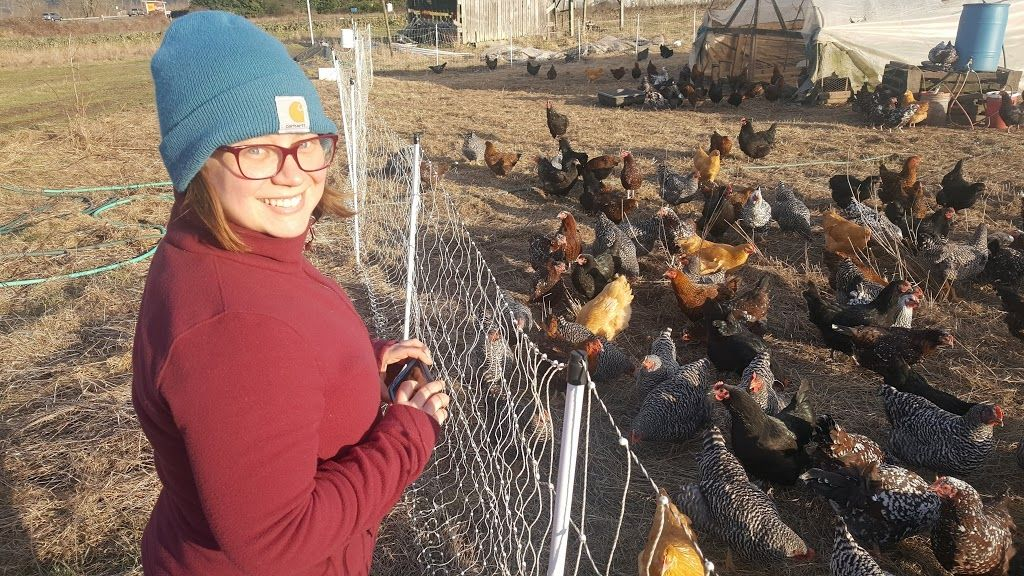 Katie looks ravishing in her ruby red Say-oh! acetate frame, handmade in Japan. Even the chickens are impressed with her sophisticated style!