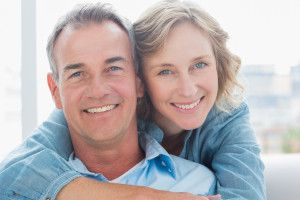 couple in dentures