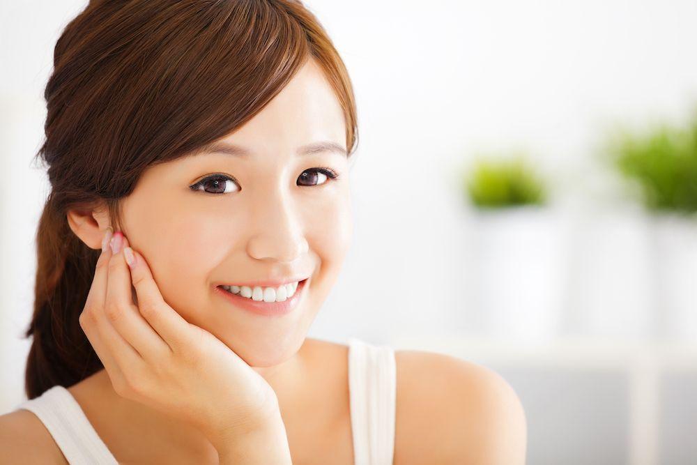 asian woman smiling
