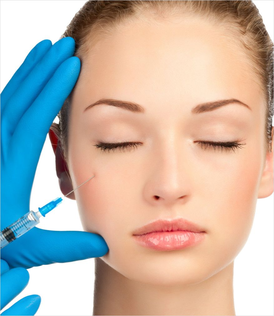 plastic surgeon enhancing woman's face