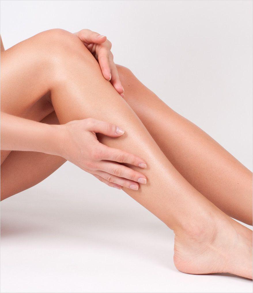 woman's firm legs