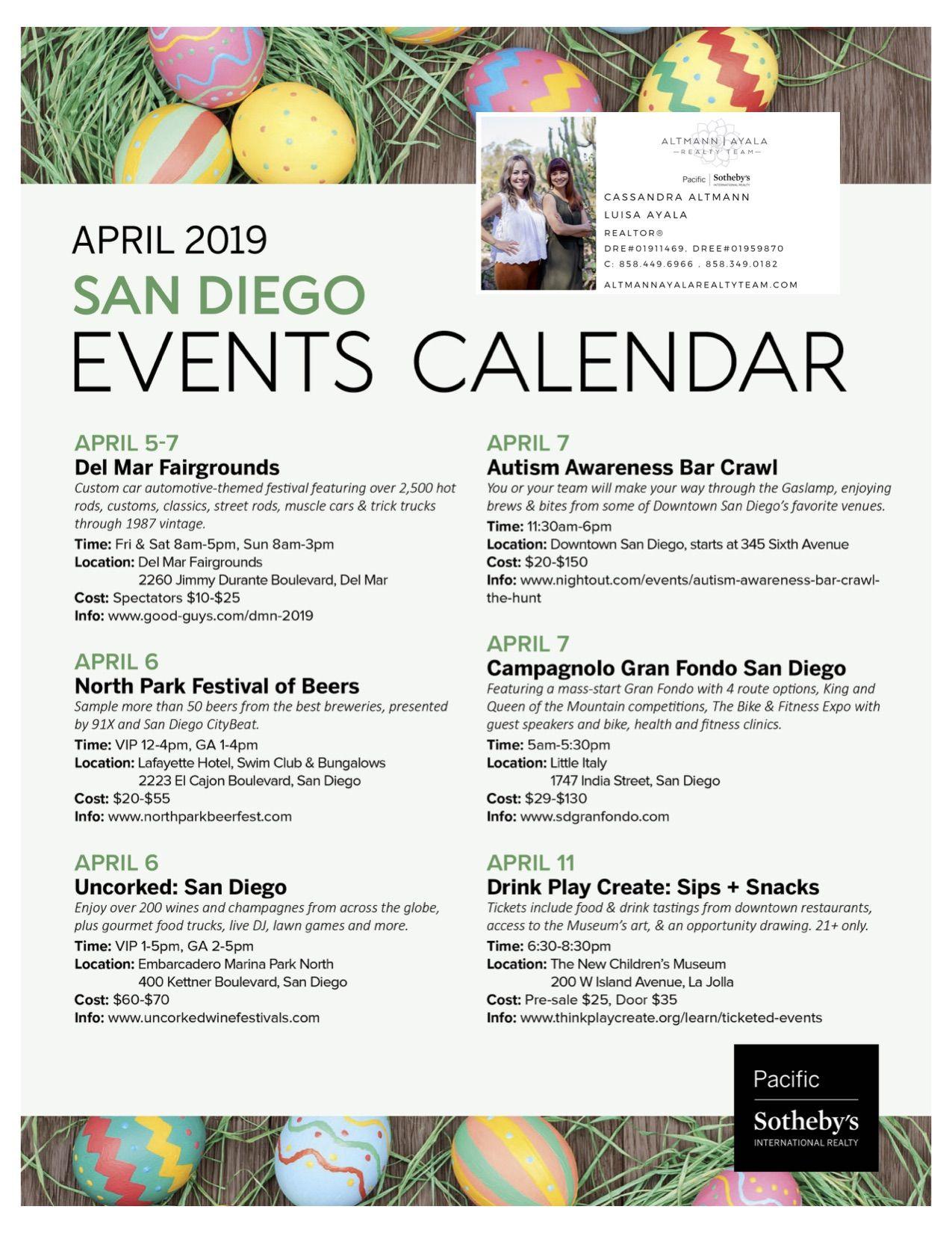 April 2019 San Diego Events Calendar