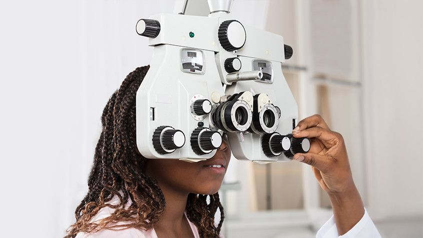 Comprehensive eye exam