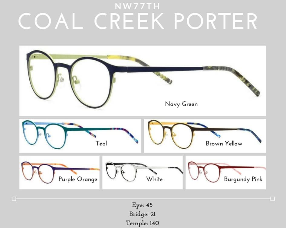 womens glasses coal creek porter