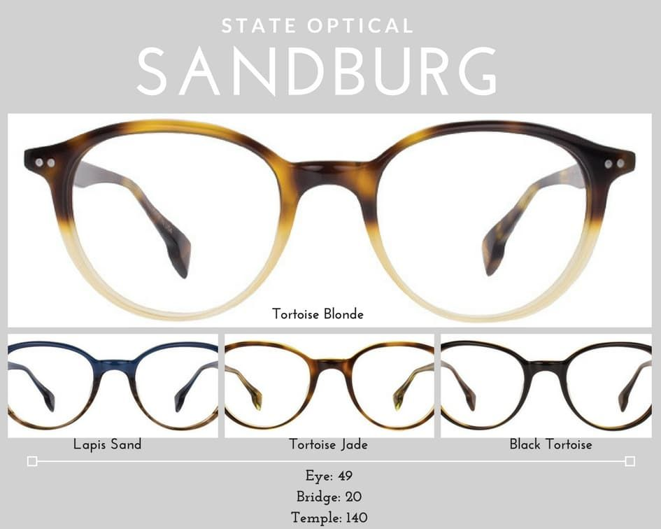 womens glasses Sandburg