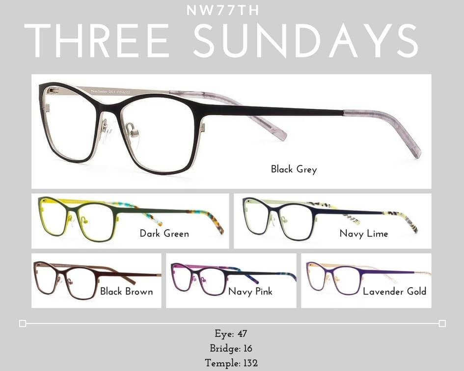 womens glasses three sundays